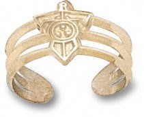 Tennessee Titans Solid 14K Gold Shoulder Logo Toe Ring