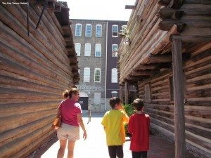 Taking a self-guided tour of Fort Nashborough. photo by Jenn at TheFunTimesGuide.com