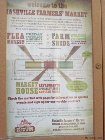 A Map Of The Nashville Farmers Market Photo By Jenn At Thefuntimesguide