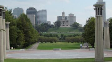 A fabulous view of Nashville's Bicentennial Mall park and State Capital Building. photo by Jenn at TheFunTimesGuide.com