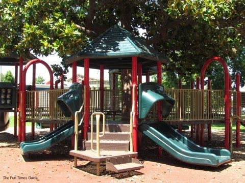 The playground is amazing at Centennial Park in Nashville. photo by Jenn at TheFunTimesGuide.com