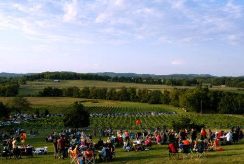 A crowded weekend at Arrington Vineyards in Franklin, TN.
