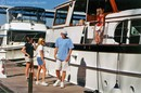 Alan Jackson and his family on their boat. photo by Georgia at TheFunTimesGuide.com