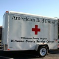An American Red Cross truck.