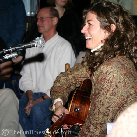 Amy Grant at the Bluebird Cafe in Nashville, Tennessee.