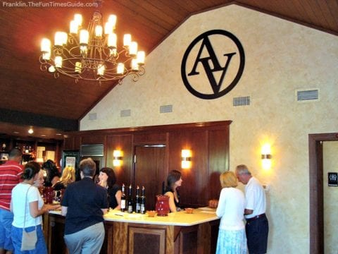 Wine tasting at Arrington Vineyards in Franklin, TN. photo by Brenda