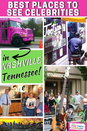 See all of the best places to spot celebrities in and around Nashville, Tennessee!