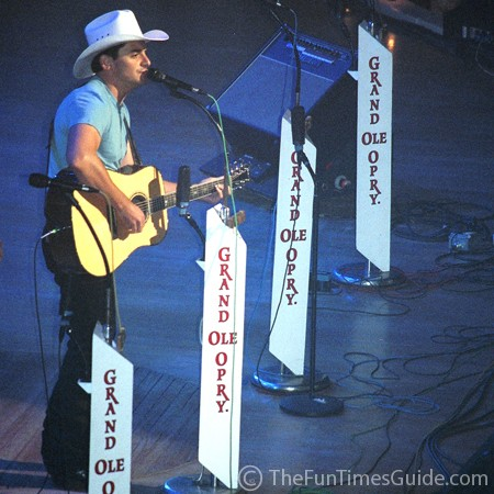 Brad Paisley at the Grand Ole Opry in Nashville.