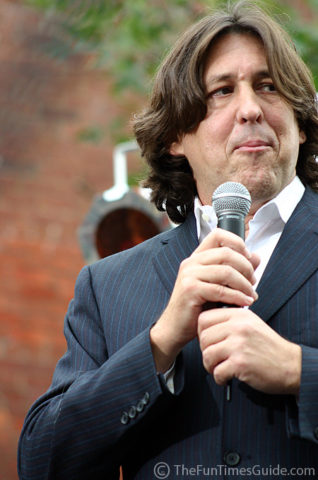 Cameron Crowe on stage at the red carpet event in Franklin, Tennessee.