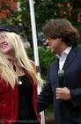 Carmen Keigans and Cameron Crowe at the premiere of 'Elizabethtown' in Franklin, Tennessee.