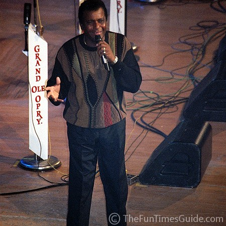 Charley Pride performing at the Grand Ole Opry in Nashville.