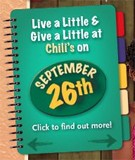 Chili's promo for donation to St. Judes Hospital.