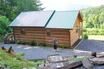 Our first time seeing the Sparrow's Nest cabin rental from Cosby Creek Cabins near Gatlinburg, Tennessee.