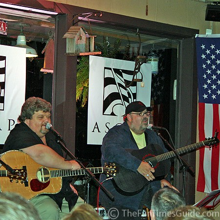 Craig Wiseman and Tony Mullins at Puckett's Grocery in Leiper's Fork, Tennessee.