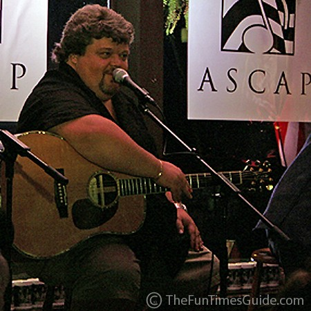 Songwriter, Craig Wiseman, sings his hit songs at Puckett's Grocery.