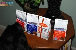 Our dog food test with Nature's Select