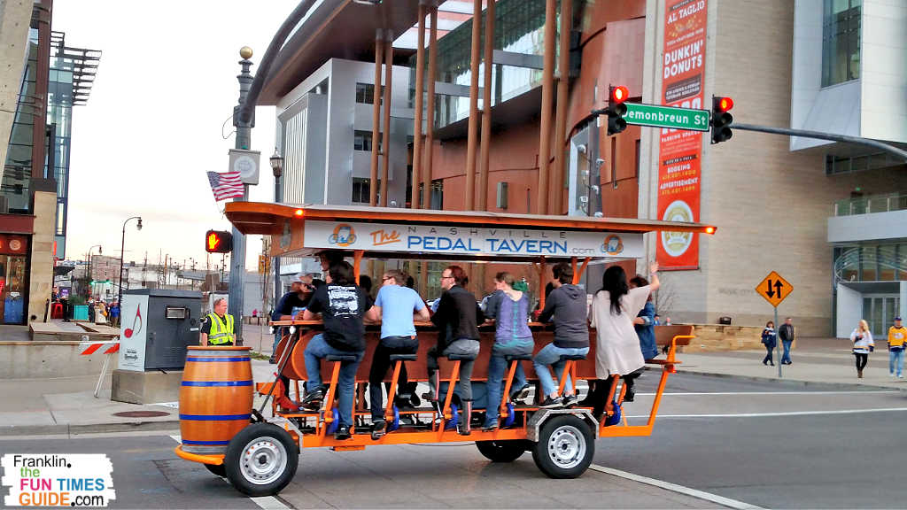 Nashville Pedal Taverns - There's nothing like pedaling your way around downtown Nashville while you're drinking!