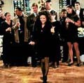Elaine Benes dancing. CLICK for more info about this Seinfeld episode called 'The Little Kicks'.