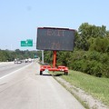 This sign appears on I-65 North indicating there's a Red Cross Shelter set up at Exit 78 in Nashville, Tennessee.