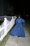 Our guide on last year's haunted walking tour of downtown Franklin... they dress in period clothing and carry a lantern.