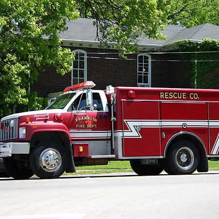 A fire truck from the Franklin Fire Department.