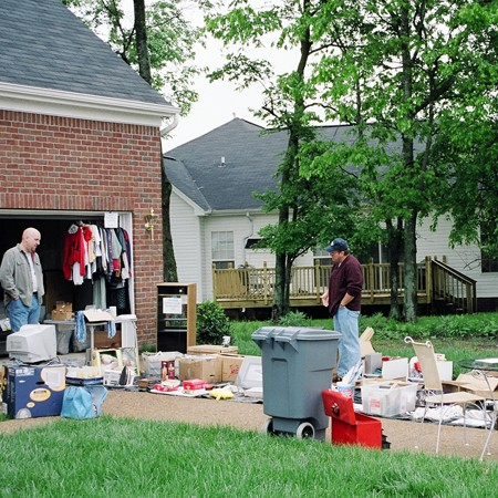 We participated in the community garage sale just days after we moved into our new house.