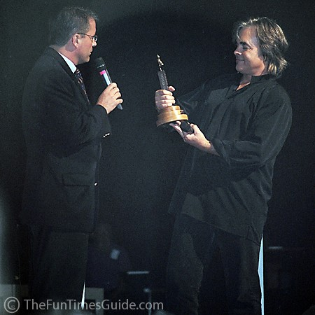 Hal Ketchum receiving an award as a member of the Grand Ole Opry.