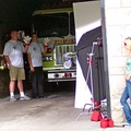Shooting a Hamburger Helper commercial at the Franklin Fire Department in downtown Franklin, Tennessee.