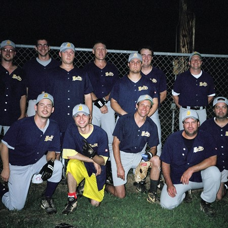 The end of the year team photo for the Ideal Boltz first season of playing softball together.