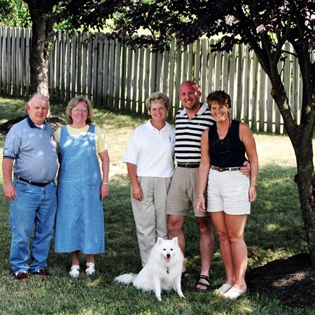Our parents when they met at our Nashville, Tennessee home.