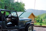 Enjoying our Jeep and Cabin rentals near Gatlinburg, Tennessee.