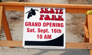 Jim Warren Skate Park pre- grand opening day.