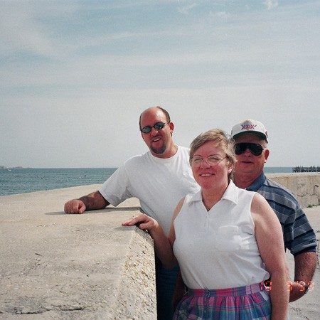 Jim and his parents when they visited us for the first time in Pensacola.
