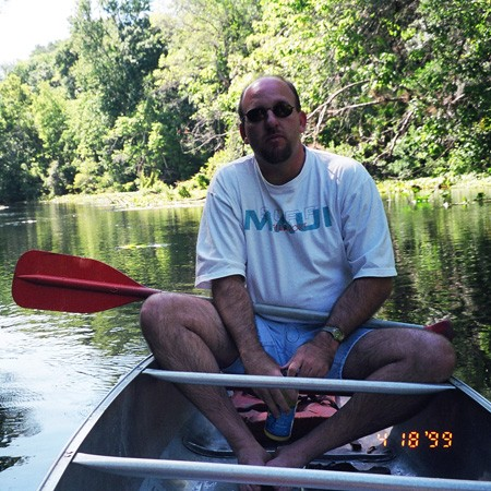 Jim canoeing Florida's lakes.