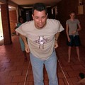 Jim playing games with the kids - jumping rope.