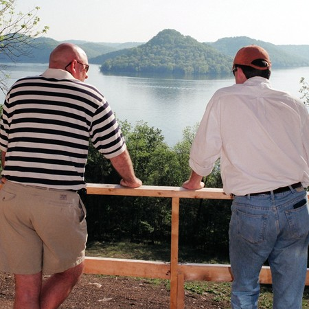 Jim and Mike admiring the view at Center Hill Lake.