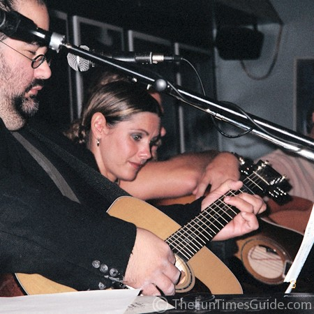 Jim Reilley and Ronna Reeves at the Bluebird Cafe in Nashville, Tennessee.