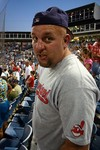 Jim got into the baseball spirit... here he is at the 7th inning stretch singing 'Take Me Out To The Ballgame'.