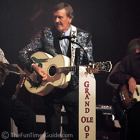 Jimmy C. Newman, also known as 'The Ragin' Cajun' performing at the Grand Ole Opry.