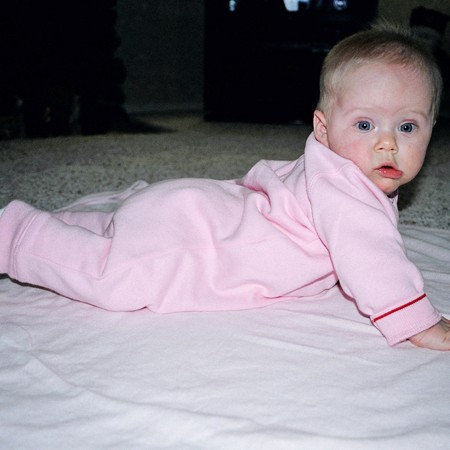 Karly after one of her first flips from back to tummy.