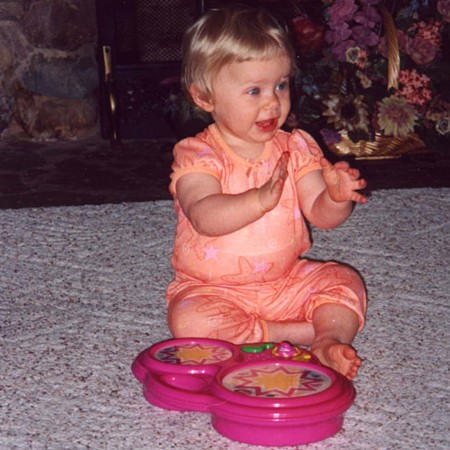 Karly playing at 11 months of age.
