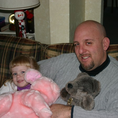 Uncle Jim and Karly doing whatever Karly wants to do.