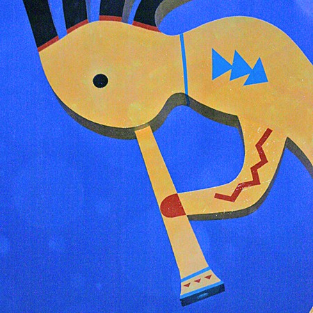 Kokopelli in blue... a sign of my mood after years of trying to get pregnant -- with no luck.