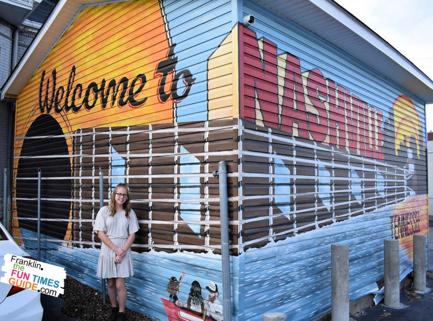 What a blast walking (or driving) all around town to get fun photos in front of all the Nashville murals!