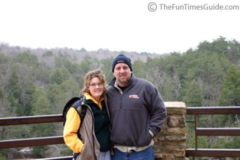 Jim and Lynnette at Fall Creek Falls, near McMinnville TN