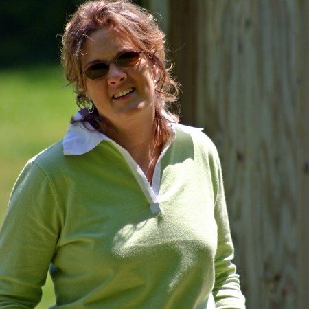 Lynnette taking in some sunshine at the park.
