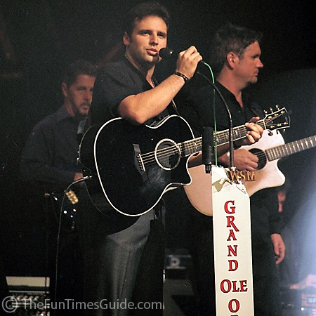 Mark Wills performing at the Grand Ole Opry in Nashville, Tennessee.