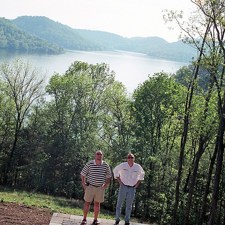 Jim and Mike admiring the view from the rear of the house.