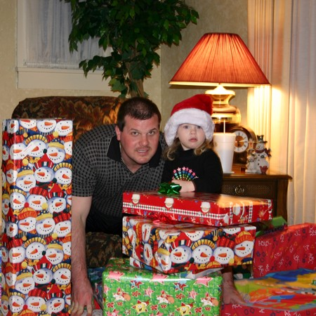 Lynnette's brother Mike and his 2-year-old daughter, Karly - Christmas 2004