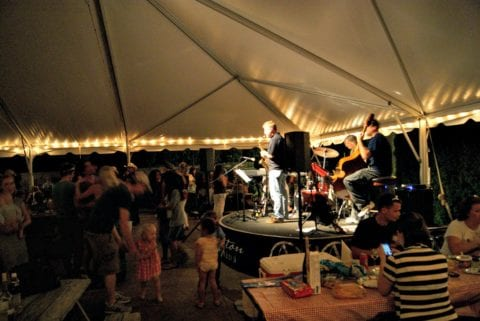 Nighttime music events at Arrington Vineyards.